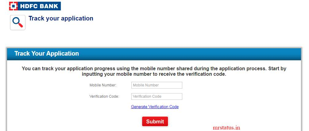 HDFC Credit Card Status through my Mobile Number